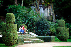 PORTUGAL SINTRA 7OCT06 - A couple enjoy the view from the Palacio de Setais' gardens...jre/Photo by Jiri Rezac..© Jiri Rezac 2006..Contact: +44 (0) 7050 110 417.Mobile:  +44 (0) 7801 337 683.Office:  +44 (0) 20 8968 9635..Email:   jiri@jirirezac.com.Web:    www.jirirezac.com..© All images Jiri Rezac 2006 - All rights reserved.