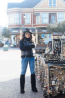 Portrait of street vendor in Eureka, CA.