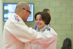 Behind the scenes, Sandrine Aurieres-Martinet, -52kg, FRA, 2016 Visually Impaired Judo Grandprix, British Judo, Birmingham, England