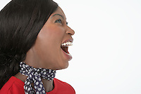 Woman with Mouth Open