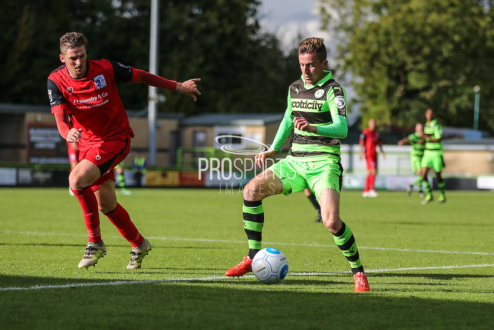 Forest Green Rovers Elliott Frear(11) on the ball during the Vanarama National League match between Forest Green Rovers and Barrow at the New Lawn, Forest Green, United Kingdom on 1 October 2016. Photo by Shane Healey.