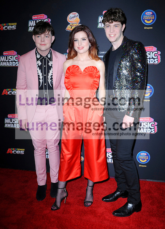 Sydney Sierota, Noah Sierota and Graham Sierota of Echosmith at the 2018 Radio Disney Music Awards held at the Loews Hotel in Hollywood, USA on June 22, 2018.