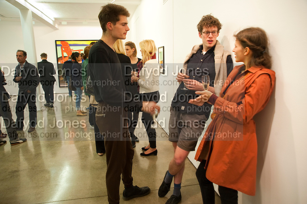 JACK BRENNAN; JACOB SMITH; JANA PEDAN, David Salle private view at the Maureen Paley Gallery. 21 Herlad St. London. E2. <br /> <br />  , -DO NOT ARCHIVE-© Copyright Photograph by Dafydd Jones. 248 Clapham Rd. London SW9 0PZ. Tel 0207 820 0771. www.dafjones.com.
