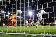 Goal - Steve Cook (3) of AFC Bournemouth scores the winning goal to make the score 2-1 during the EFL Cup 4th round match between Bournemouth and Norwich City at the Vitality Stadium, Bournemouth, England on 30 October 2018.