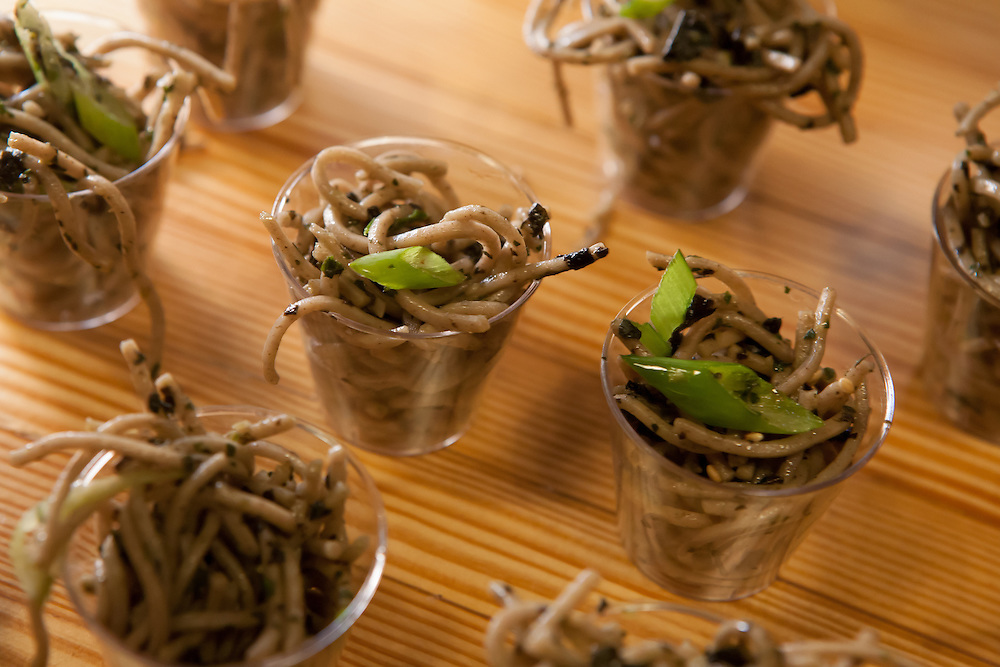 "Shiso mint pesto with soba noodles by Cathy Erway, blogger of ""Not Eating Out in NY"" and author of ""The Art of Eating In."""