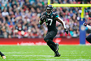 Jacksonville Jaguars Running Back Leonard Fournette (27) in action during the International Series match between Jacksonville Jaguars and Houston Texans at Wembley Stadium, London, England on 3 November 2019.