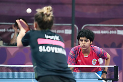 October 8, 2018 - Buenos Aires, Ciudad de Buenos Aires, Argentina - Table tennis at the Olympic Youth Games, preliminary rounds. (Credit Image: © Gustavo Pantano/Pacific Press via ZUMA Wire)
