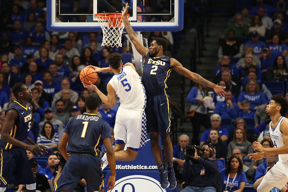 November 17, 2017 - Lexington, Kentucky - Rupp Arena: ETSU forward David Burrell (2)<br /> <br /> Image Credit: Dakota Hamilton/ETSU