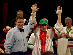 May 18, 2007; New York, NY, USA; John Coyle knocks out Samuel Gomez in the second round of their fight at the Beacon Theatre in New York City.