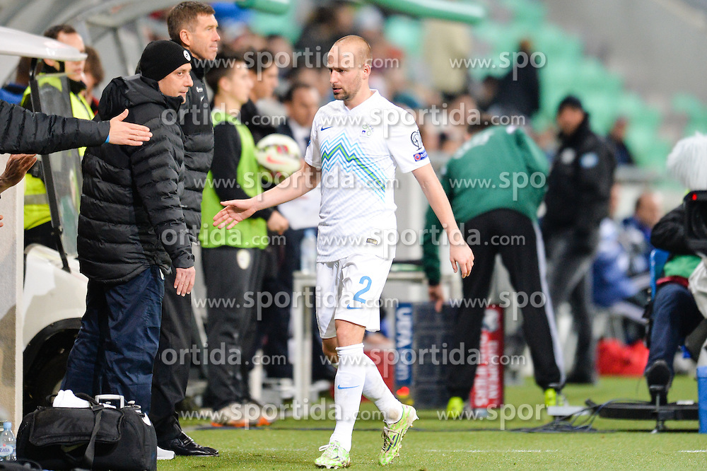 Brecko Miso of Slovenia during football match between NationalTeams of Slovenia and San Marino in Round 5 of EURO 2016 Qualifications, on March 27, 2015 in SRC Stozice, Ljubljana, Slovenia. Photo by Mario Horvat / Sportida