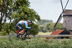 VAN MOER Brent from BELGIUM during Men Under 23 Time Trial at 2019 UEC European Road Championships, Alkmaar, The Netherlands, 8 August 2019. <br /> <br /> Photo by Pim Nijland / PelotonPhotos.com <br /> <br /> All photos usage must carry mandatory copyright credit (Peloton Photos | Pim Nijland)