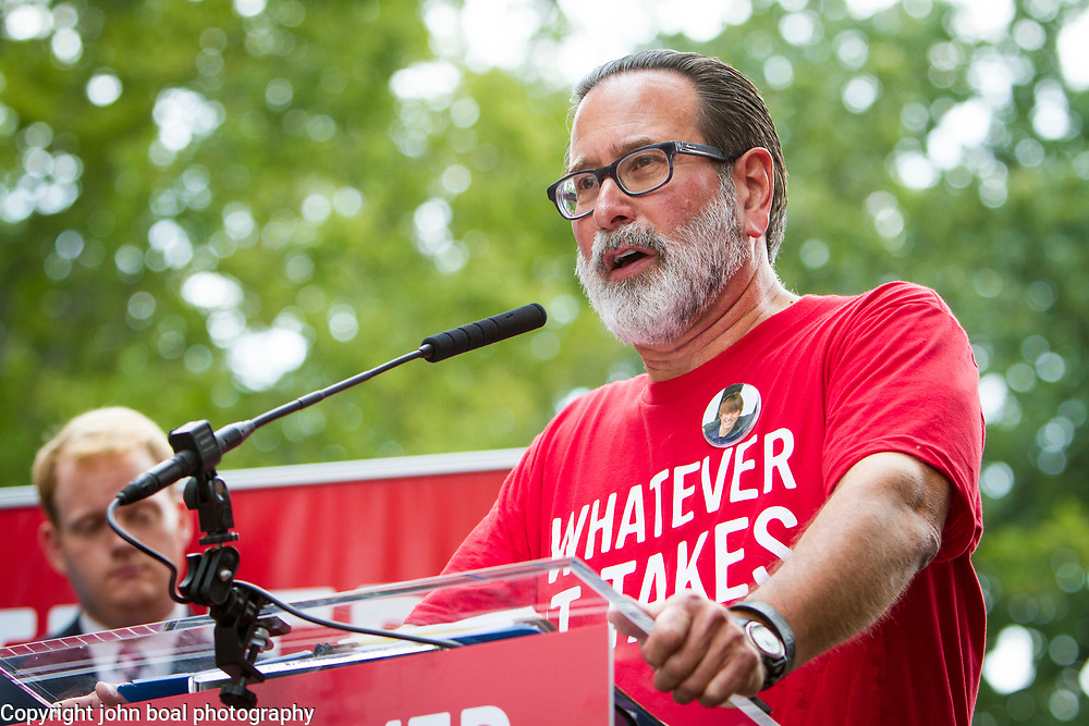 "Richard Martinez, father of Christopher Ross Michaels-Martinez, who was killed in the Isla Vista mass shooting on May 23, 2014 speaks at a rally organized to support victims of gun violence and pressure politicians to do ""whatever it takes"" to prevent gun violence. Andy Parker, made his first visit to Washington, D.C. since his daughter, WDBJ_TV reporter was shot and killed on live television near Roanoke, VA last week.  The rally, organized by Everytown for Gun Safety, brought Parker together with Virginia Senators, Mark Warner, Tim Kaine and Virginia Governor, Terry McAuliffe near the United States Capitol, on Thursday, September 10, 2015.  John Boal/for The New York Daily News"