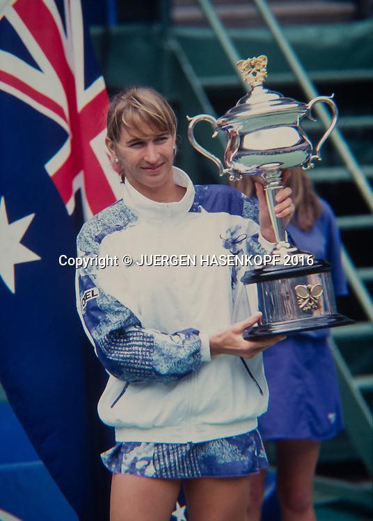 Steffi Graf, Australian Open 1994<br /> <br /> Tennis - Australian Open 1994 - Grand Slam ATP / WTA -  Melbourne Olympic Park - Melbourne - Victoria - Australia  - 30 November 2016.