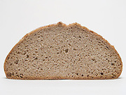 front view of an organic sour dough whole wheat bread.
