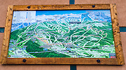 Ski resort hiking and biking trail map, Telluride, Colorado USA