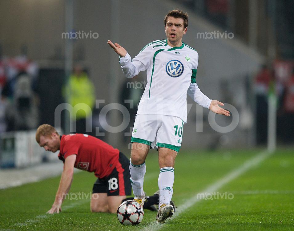 Fussball Uefa Champions League VFL Wolfsburg - Manchester United FC Zvjezdan MISIMOVIC (Wolfsburg).