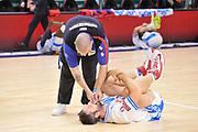 DESCRIZIONE : Campionato 2014/15 Dinamo Banco di Sardegna Sassari - Olimpia EA7 Emporio Armani Milano<br /> GIOCATORE : Manuel Vanuzzo<br /> CATEGORIA : Riscaldamento Before Pregame Curosità<br /> SQUADRA : Dinamo Banco di Sardegna Sassari<br /> EVENTO : LegaBasket Serie A Beko 2014/2015<br /> GARA : Dinamo Banco di Sardegna Sassari - Olimpia EA7 Emporio Armani Milano<br /> DATA : 07/12/2014<br /> SPORT : Pallacanestro <br /> AUTORE : Agenzia Ciamillo-Castoria / Claudio Atzori<br /> Galleria : LegaBasket Serie A Beko 2014/2015<br /> Fotonotizia : Campionato 2014/15 Dinamo Banco di Sardegna Sassari - Olimpia EA7 Emporio Armani Milano<br /> Predefinita :