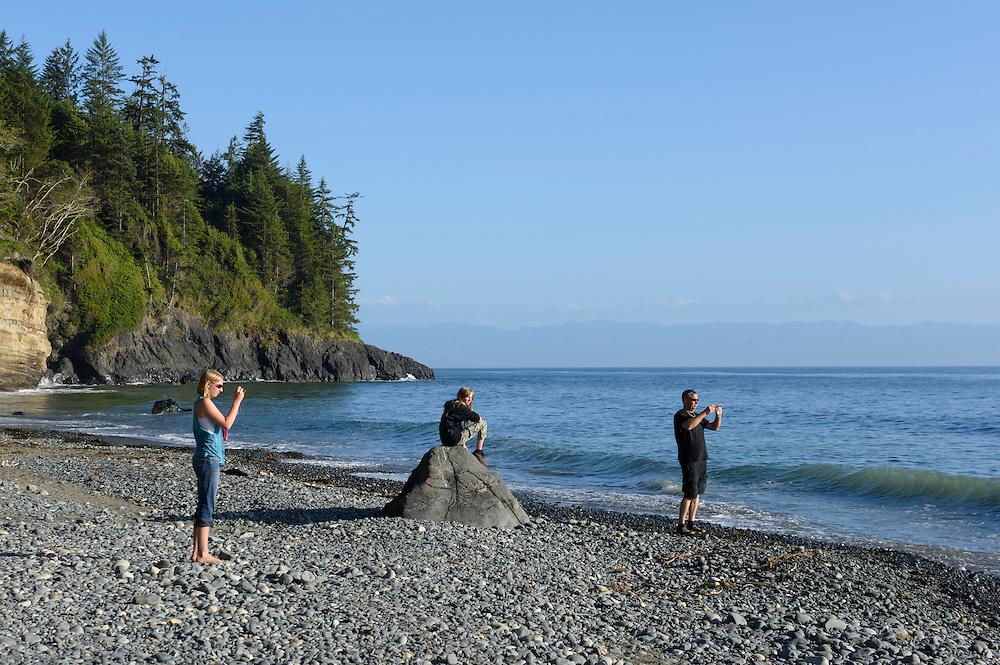 Canada, British Columbia, Vancouver Island, Juan DeFuca Provincal Park,Mystic Beach
