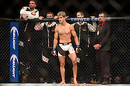 HOUSTON, TX - OCTOBER 3:  Sage Northcutt enters the Octagon before his fight against Francisco Trevino during UFC 192 at the Toyota Center on October 3, 2015 in Houston, Texas. (Photo by Cooper Neill/Zuffa LLC/Zuffa LLC via Getty Images) *** Local Caption *** Sage Northcutt