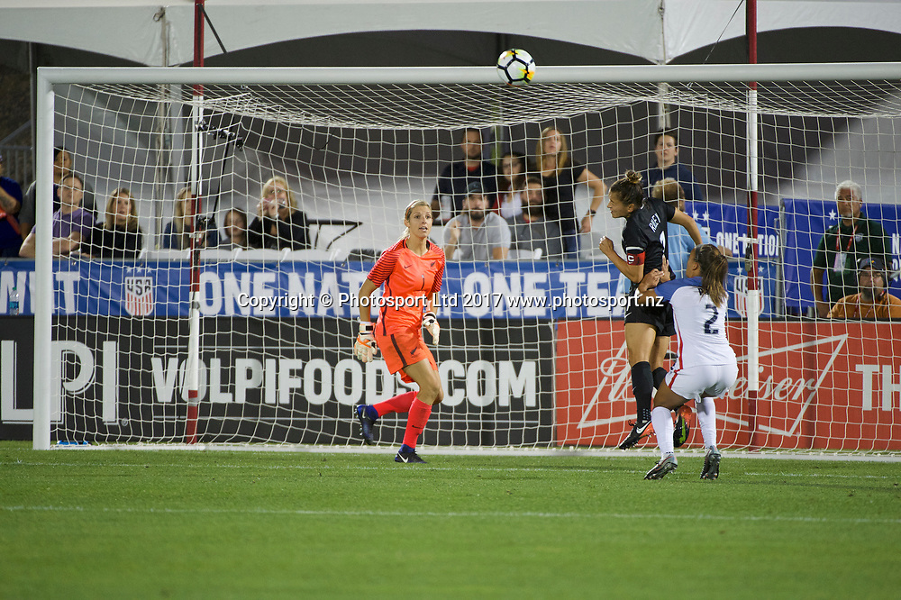 Commerce City, Colorado - Friday September 15, 2017:  Ali Riley (7) of the New Zealand Women's National Football Team against the USWNT at Dick's Sporting Goods Park. Copyright photo: Jamie Schwaberow / ISI / www.photosport.nz