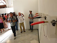Opening day of the 11th Havana Biennial, May 11, 2012. Ingrid Bachmann was one of three Canadian artists chosen by the Biennial. &quot;Pinocchio's Dilemma&quot; was shown at the Centro hispano-americano de Cultura until the end of the Biennial June 11, 2012.<br /> <br /> http://www.bienalhabana.cult.cu/?secc=artistas_amp&amp;idArtista=94<br /> <br /> http://www.ingridbachmann.com/