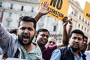 Manifestazione No Bolkestein con Di Maio e Salvini