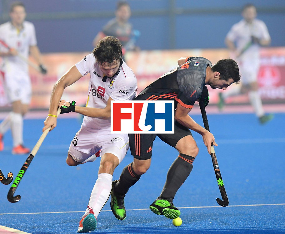 Odisha Men's Hockey World League Final Bhubaneswar 2017<br /> Match id:12<br /> Belgium v Netherlands<br /> Foto: Sander Baart (Ned) in dual with Manu Stockbroekx (Bel) <br /> COPYRIGHT WORLDSPORTPICS FRANK UIJLENBROEK