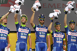 July 13, 2017 - Pau, France - Peyragudes, France - July 13 :  Wanty - Groupe Gobert team during stage 12 of the 104th edition of the 2017 Tour de France cycling race, a stage of 214.5 kms between Pau and Peyragudes on July 13, 2017 in Peyragudes, France, 13/07/2017 (Credit Image: © Panoramic via ZUMA Press)