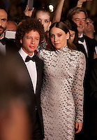 Director Michel Franco, actress Sarah Sutherland at the gala screening for the film Chronic at the 68th Cannes Film Festival, Friday 22nd May 2015, Cannes, France.