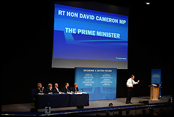 Image ©Licensed to i-Images Picture Agency. 28/09/2014. Birmingham, United Kingdom. The Prime Minister David Cameron speaking at the National Conservative Convention at the 2014 Conservative Party Conference.Picture by Andrew Parsons / i-Images