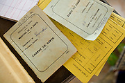 Booklets used to keep track of vaccinations received by children at the Adja-Ouere community health center in the village of Adja-Ouere, Benin on Friday September 14, 2007.