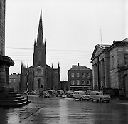 Towns in Ireland, Church Square, Monaghan Town.04/04/1957.
