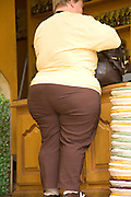 obese woman standing