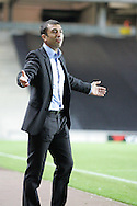 Milton Keynes - Tuesday, August 12th, 2008: MK Dons manager Roberto Di Matteo during the Carling League Cup First Round match at Stadium MK, Milton keynes. (Pic by Mark Chapman/Focus Images)