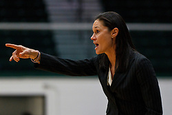 Dec 7, 2011; San Francisco CA, USA; San Francisco Lady Dons head coach Jennifer Azzi on the sidelines against the Florida Gators during the first half at War Memorial Gym.  Mandatory Credit: Jason O. Watson-US PRESSWIRE