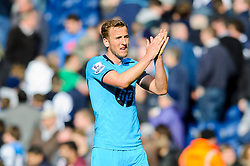 Harry Kane (ENG) of Tottenham Hotspur looks frustrated with a draw as he applauds the travelling support - Photo mandatory by-line: Rogan Thomson/JMP - 07966 386802 - 12/04/2014 - SPORT - FOOTBALL - The Hawthorns Stadium - West Bromwich Albion v Tottenham Hotspur - Barclays Premier League.
