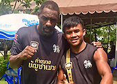 Exclusive - Idris Elba pictured at Boxing Traning Camp in Thailand