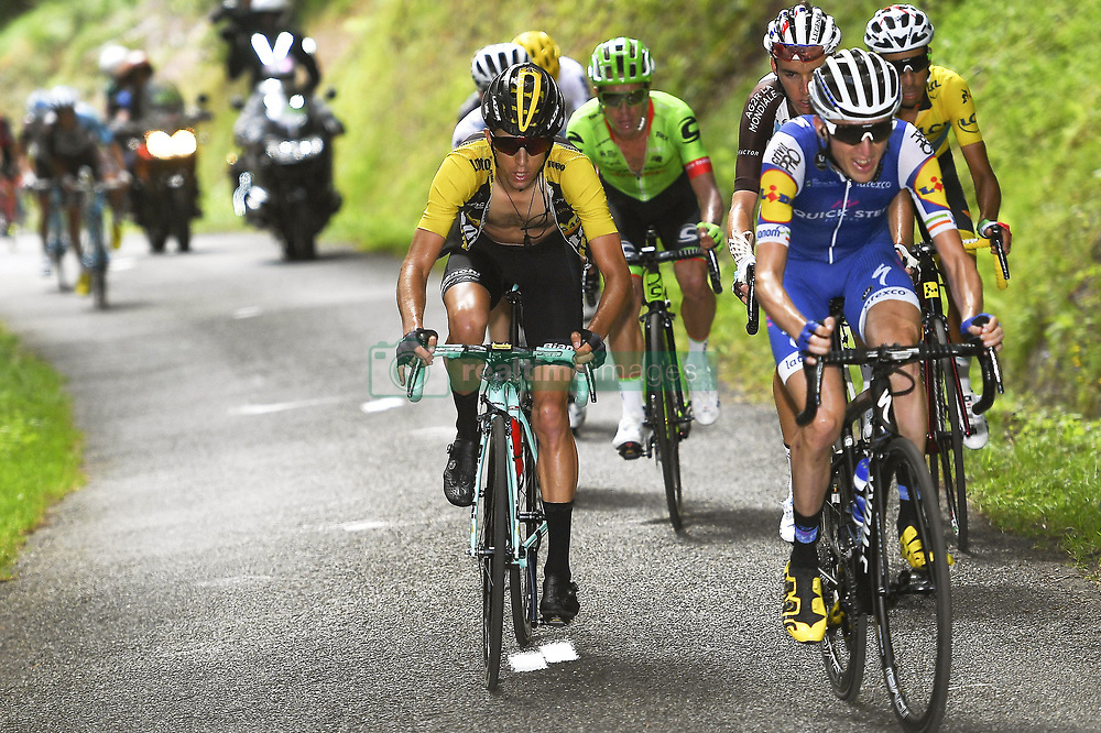 July 14, 2017 - Foix, France - FOIX, FRANCE - JULY 14 : BENNETT George (NZL) Rider of Team Lotto NL - Jumbo during stage 13 of the 104th edition of the 2017 Tour de France cycling race, a stage of 101 kms between Saint-Girons and Foix on July 14, 2017 in Foix, France, 14/07/2017 (Credit Image: © Panoramic via ZUMA Press)