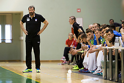 Veselin Vujovic, head coach of Slovenia during friendly handball match between National teams of Slovenia and Belarus, on April 8, 2018 in Sports hall Tri Lilije, Lasko, Slovenia. Photo by Urban Urbanc / Sportida