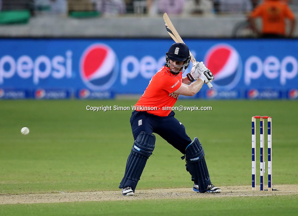 PICTURE BY MARK GREEN/SWPIX.COM  Pakistan v England 1st T20, Dubai Internayional Stadium, UAE, 26/11/15 <br /> England wicket keeper Sam Billings played a match winning innings of 53, being run out on the last bowl