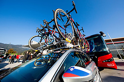 Slovenian car prior to the Men Elite Road Race at 258.5km Race from Kufstein to Innsbruck 582m at the 91st UCI Road World Championships 2018 / RR / RWC / on September 30, 2018 in Innsbruck, Austria. Photo by Vid Ponikvar / Sportida