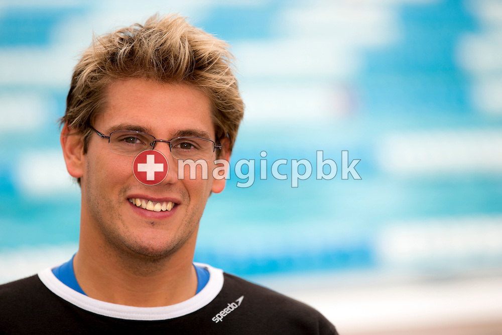 SCUW's Julien BAILLOD of Switzerland poses for a portrait photo during the Swiss Swimming Summer Championships held at the 50m outdoor pool at the Centro sportivo nazionale della gioventu in Tenero, Switzerland, Friday, July 4, 2014. (Photo by Patrick B. Kraemer / MAGICPBK)