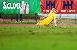 Dario Kolobarić of Domzale celebrates after scoring a goal during football match between NK Triglav Kranj and NK Domzale in 35th Round of Prva liga Telekom Slovenije 2018/19, on May 22nd, 2019, in Sports park Kranj, Slovenia. Photo by Vid Ponikvar / Sportida
