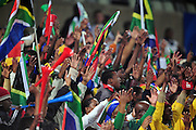 Bafana Supporters  during the soccer match of the 2009 Confederations Cup between Spain and South Africa played at the Freestate Stadium,Bloemfontein,South Africa on 20 June 2009.  Photo: Gerhard Steenkamp/Superimage Media.