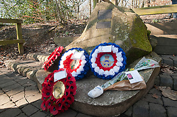 Memorial to USAAF Crewmen of Mi Amigo<br /> <br /> First Lieutenant John Glennon Krieghauser, pilot.<br /> <br /> Second Lieutenant Lyle J Curtis, co-pilot<br /> <br /> Second Lieutenant John W Humphrey, navigator<br /> <br /> Second Lieutenant Melchor Hernandez, bombardier<br /> <br /> Staff Sergeant Robert E Mayfield, radio operator<br /> <br /> Staff Sergeant Harry W Estabrooks, engineer/top turret gunner<br /> <br /> Sergeant Charles H Tuttle, ball-turret gunner<br /> <br /> Sergeant Maurice O Robbins, tail gunner<br /> <br /> Sergeant Vito R Ambrosio, right waist gunner<br /> <br /> Muster Sergeant George U Williams, left waist gunner<br /> Endcliffe Park Sheffield<br /> <br /> www.pauldaviddrabble.co.uk<br /> 19th February 2012 <br /> Image © Paul David Drabble