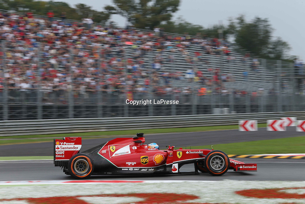 &copy; Photo4 / LaPresse<br /> 05/09/2014 Monza, Italy<br /> Sport <br /> Grand Prix Formula One Italy 2014<br /> In the pic: Fernando Alonso (ESP) Scuderia Ferrari F14-T