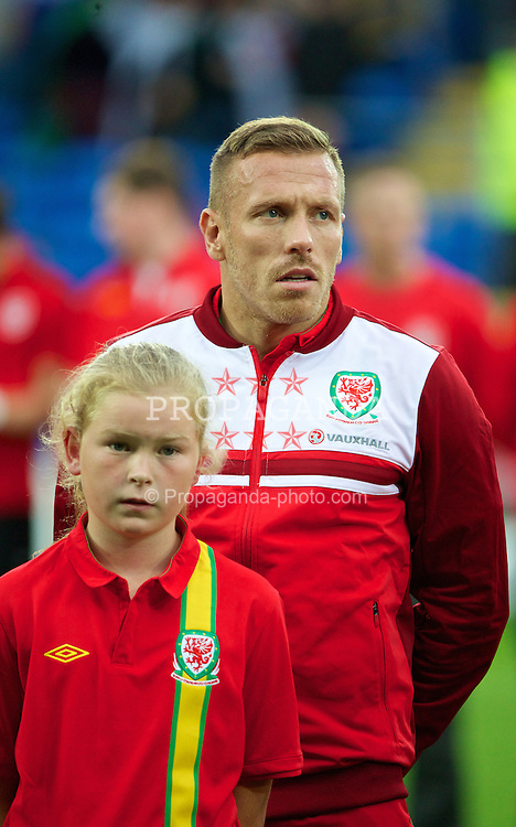 CARDIFF, WALES - Wednesday, August 14, 2013: Wales' Craig Bellamy before an International Friendly against Republic of Ireland at the Cardiff City Stadium. (Pic by David Rawcliffe/Propaganda)