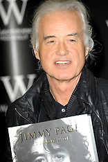 DEC 02 2014 Jimmy Page attends a book signing at Waterstones, Piccadilly