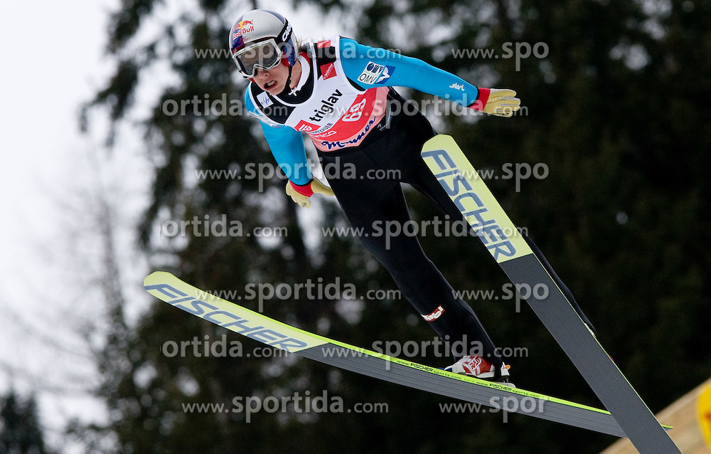 Gregor Schlierenzauer of Austria competes during Flying Hill Individual Qualifications at 1st day of FIS Ski Flying World Championsghips Planica 2010, on March 18, 2010, Planica, Slovenia.  (Photo by Vid Ponikvar / Sportida)