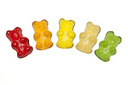 Organic Gummi bears, flavoured and coloured with fruit juice, .